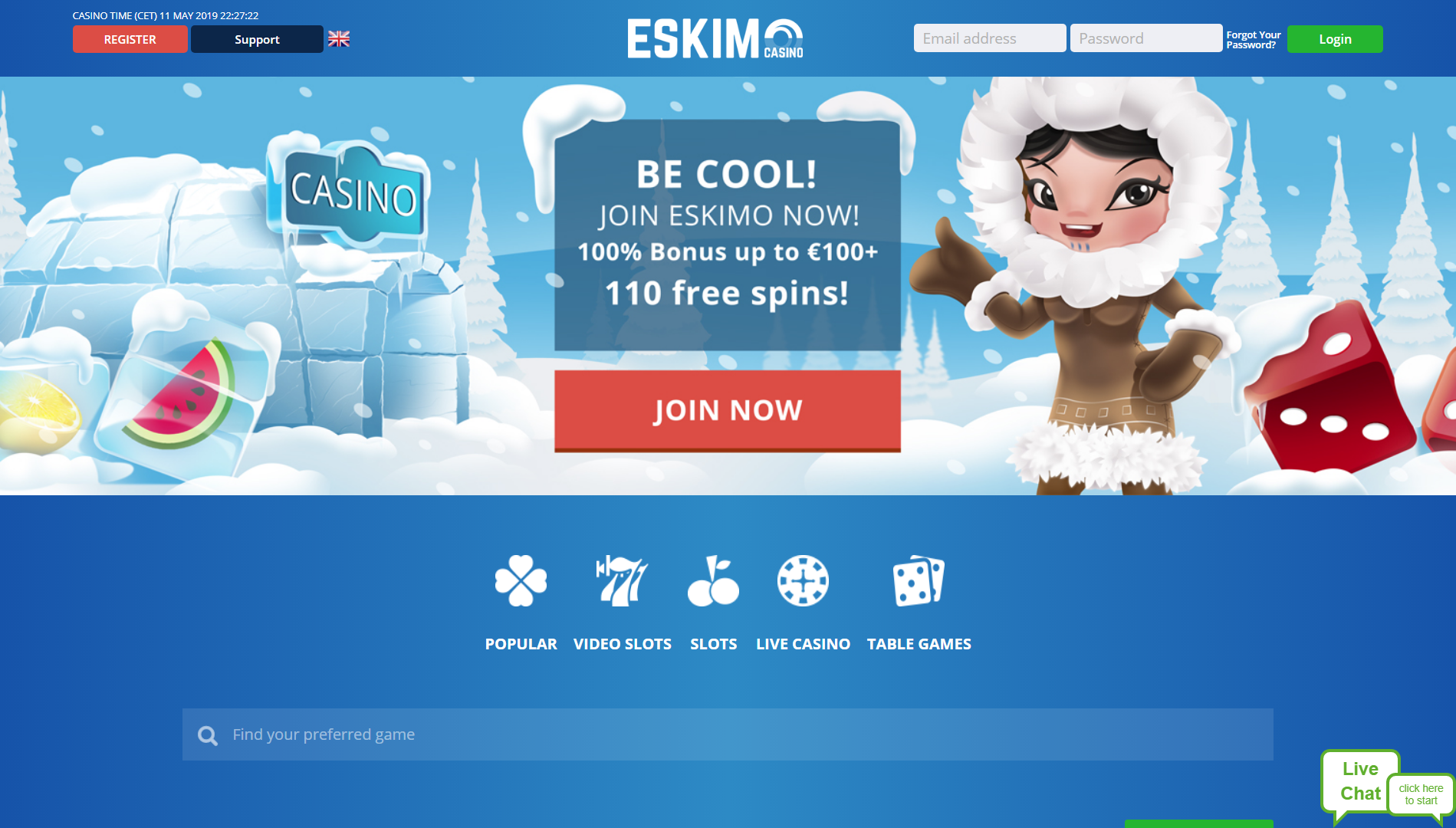 Eskimo casino home
